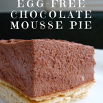 Egg free Chocolate Mousse Pie