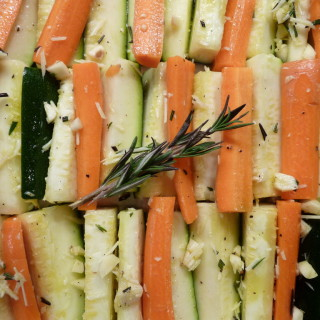 Garlic Roasted Carrots and Zucchinis