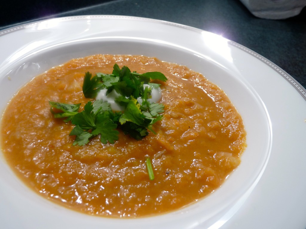 peanut and ginger sweet potato soup